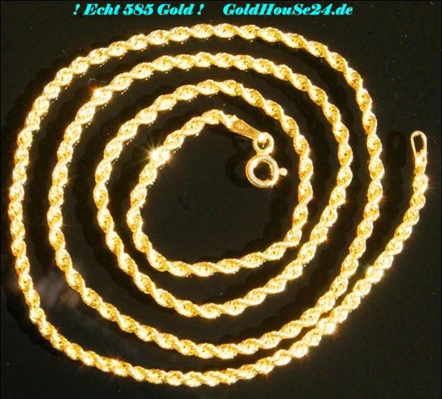 Kette gelbgold  Gold Neue 585 echt Gold Kette schöne lange Kordel 14 Karat ...