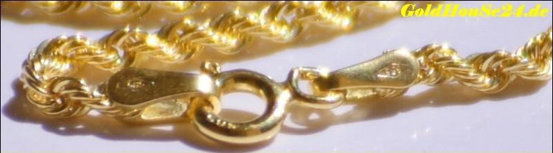 echt 585 gold kette model kordelkette 14karat goldhouse24. Black Bedroom Furniture Sets. Home Design Ideas