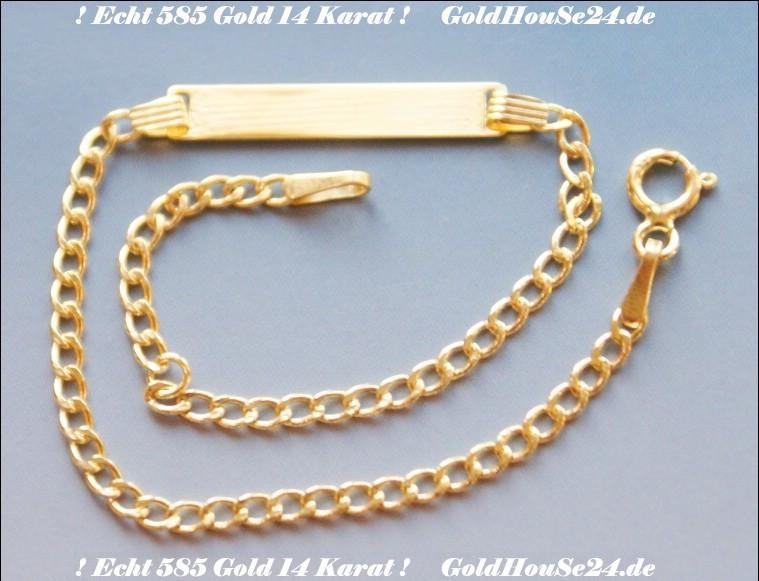 echt 585 gold kinder baby gravur armband 14 karat. Black Bedroom Furniture Sets. Home Design Ideas